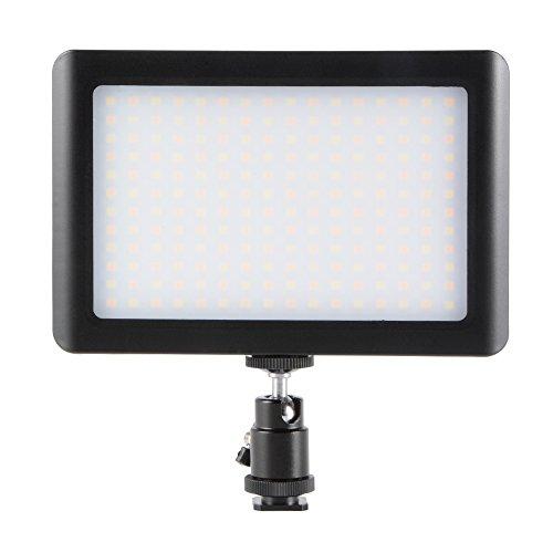 XCSOURCE® Universal 192 LED de luz de la cámara Dimmable Panel de luz del estudio 3200K-6000K con la batería, cargador...
