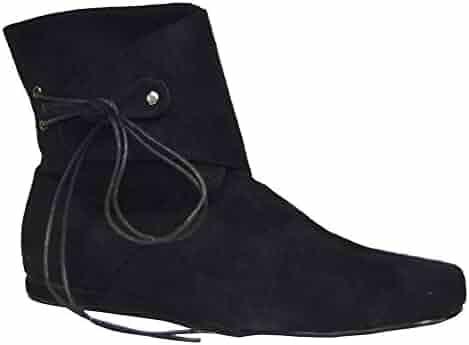 e01c504e037 SALES4YA Costume-Footwear Boot Renaissance Black Short Men Md Halloween  Costume - 1 size