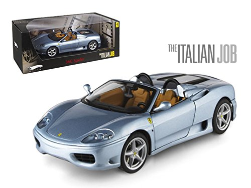 Hot wheels Ferrari 360 Modena Spider The Italian Job Movie Elite Edition 1/18 Model Car by Hotwheels (360 Ferrari Spider Modena)