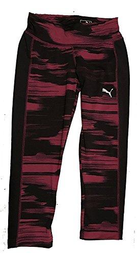 (Puma Ladies Size Small Blur Tight Capri Pant, Purple/Black)