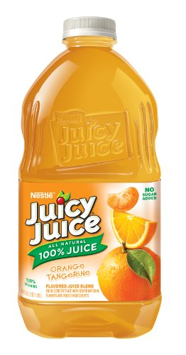 Juicy Juice Orange Tangerine Juice, 64-Ounce Pet Bottles (Pack of (Juicy Juice Bottle)