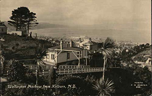 (A view of Wellington Harbour Kelburn, New Zealand Original Vintage Postcard )
