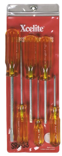 Xcelite SRX33 6-Piece Slotted and Phillips Screwdriver Set