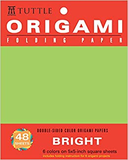 origami folding paper bright 5x5 inch 48 sheets origami