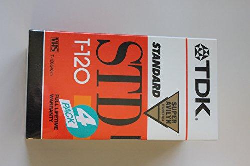 TDK Video Tape T120, Pk/4 (T-120RVS4)