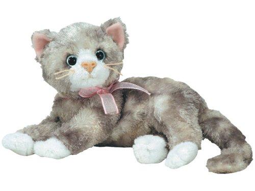 Ty Beanie Babies Rhapsody  - Grey Cat with Pink Ribbon