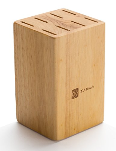 Knife Block For Steak Knives 5 Inch Utility Knives 8 Piece Slot Organizer Durable ♻ 100% Natural Wood Holder Storage In Drawer Cabinet Kitchen Centerpiece