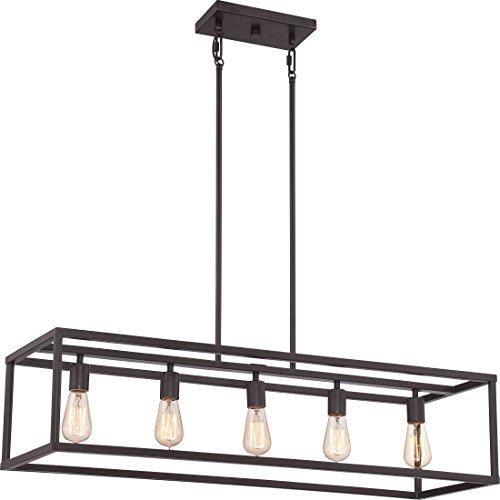 Quoizel NHR538WT  New Harbor 5-Light Island Chandelier, Western (New Style Light)