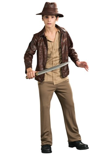 [Rubies Mens New Teen Deluxe Indiana Jones Theme Party Fancy Dress Costume, Teen (34-36)] (Cheap Indiana Jones Costumes)