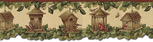 Birds House Wallpaper Border B30040 ()