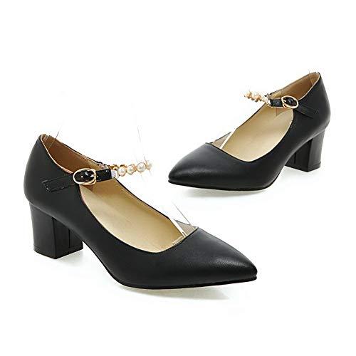 Compensées 36 EU 5 Noir AN Femme Noir Sandales DGU00465 6WRWwqEp