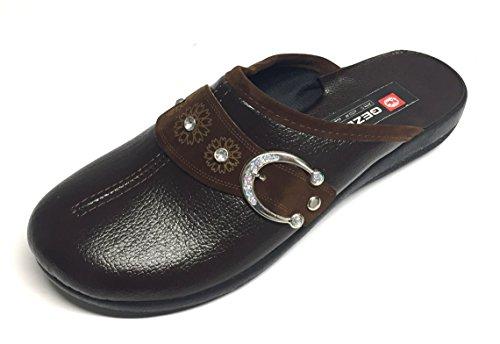 Gezer Women's Slippers 6.5 Brown