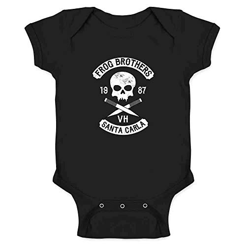Frog Brothers Santa Carla Halloween Costume Horror Black 6M Infant Bodysuit ()