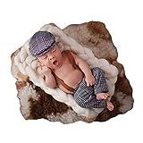 Coberllus Newborn Monthly Baby Photo Props Stripe