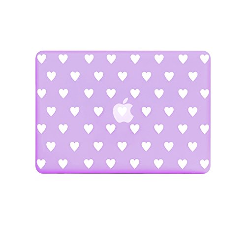 (TOP CASE - Heart-Shaped Design Rubberized Hard Case Cover Compatible with Apple MacBook Air 13