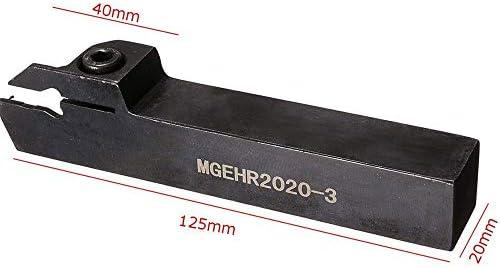 LKK-KK Cutting Tools, 20mmx125mm MGEHR2020-3 Holder Cutting Groove Cutter Lathe Turning Tool Holder