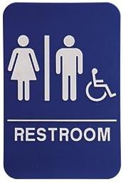 Unisex Restroom Sign Blue/White - ADA Compliant