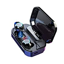 Hengwei Eleoption 2019 Updated Version Bluetooth Earbuds Wireless Earbuds Mini Bluetooth 5.0 Earphones with Playtime Waterproof Stereo Sound Built-in Mic with Charging Case