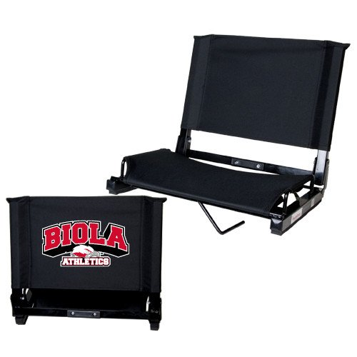 CollegeFanGear Biola Stadium Chair Black 'Official Athletics Logo' by CollegeFanGear