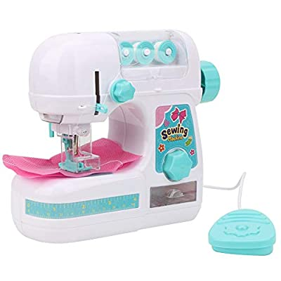 Simlug Children Sewing Machine Box, Electric Medium Size Sewing Machine Toys Educational Interesting Toy for Kids Girls Children: Home & Kitchen
