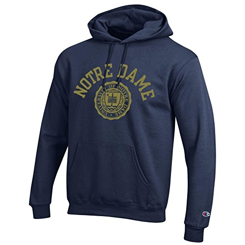 Elite Fan Shop Notre Dame Fighting Irish Hoodie Sweatshirt Seal Navy - Medium