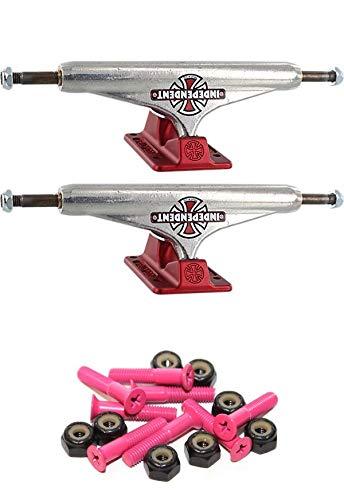 独立した169mm 鍛造中空ヴィンテージクロス標準6.5インチワイドスケートボードトラック 1インチピンク取り付け金具付き   B07GXHQ5MD