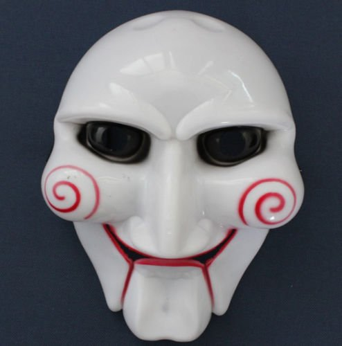 Jigsaw Puppet Costumes (NPLE--TOP Halloween Party Cosplay Billy Jigsaw Saw Puppet Mask Masquerade Costume Prop)