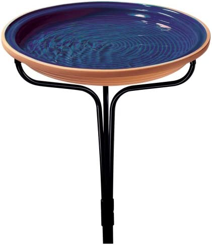 BACKYARD EXPRESSIONS PATIO /· HOME /· GARDEN 914923 Bird Bath Blue