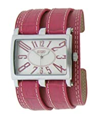 EOS New York Unisex 19LPNK Trendsetter Pink Leather Strap Watch