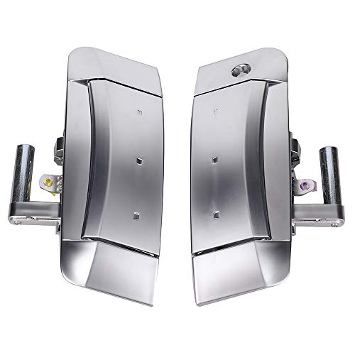KanSmart 1 Pair Exterior Door Handles Driver Side Front Left & Right Door Handle Assembly for Nissan 350Z 2003 2004 2005 2006 2007 2008 2009 Replace OE# 80607CD40B 80606-CD01E