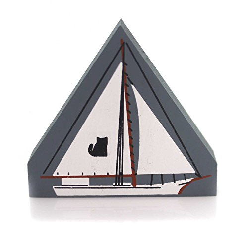 CATS MEOW VILLAGE Skipjack Wood Accessory Retired Sailing Sail 131