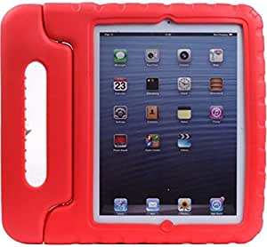 Red Child Kids Shock Proof Foam EVA Cover Case Handle Stand For iPad mini