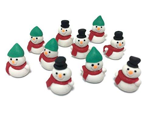 Lot of 10 Miniature Snowman Fairy Garden Supplies Figurine Furniture Dollhouse GD#008 (Garden Japanese Miniature Furniture)