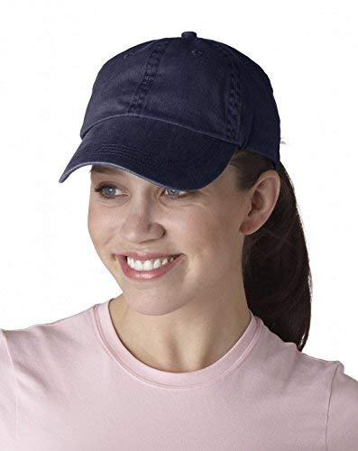 Anvil 146 Solid Pigment Dye Cap Navy One Size