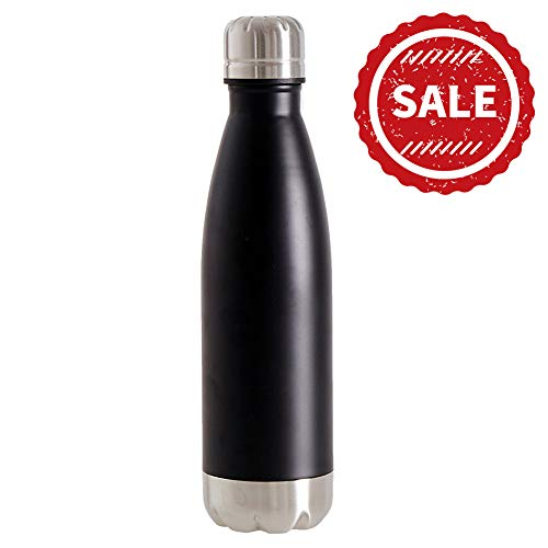 SHAREWIN Stainless Steel Travel Water Bottle Thermos Vacuum Insulated Water Bottle,Leak Proof Cold Double Walled Cola Shape