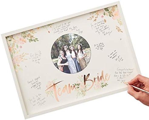 JGA Album Team Bride Samt Rosa Blush I Jungesellinnenabschied  Erinnerung Buch