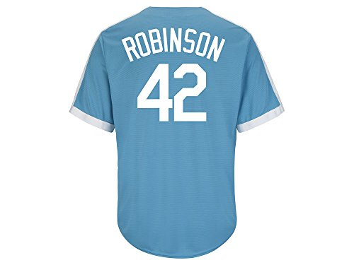 Majestic Athletic Men's Brooklyn Dodgers Jackie Robinson Cooperstown Jersey Smal