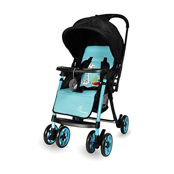 R for Rabbit Poppins Plus Stroller & Pram for Baby Kids Infants New Born Boys Girls of 0 to 3 Years(Blue Black)