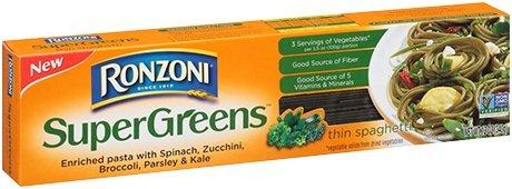 NEW Ronzoni SuperGreens, Thin Spaghetti 12 oz ( 2 Pack)