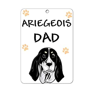 Aluminum Metal Sign Funny Ariegeois Dog Dad Informative Novelty Wall Art Vertical 8INx12IN 9