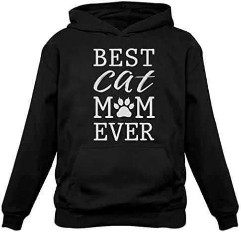 Tstars - Best Cat Mom Ever Gift for Cat Lover Women Hoodie
