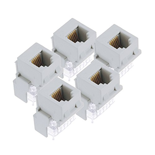 On-Q F9042WHV5 RJ25 Phone Jack, White, 5Pack