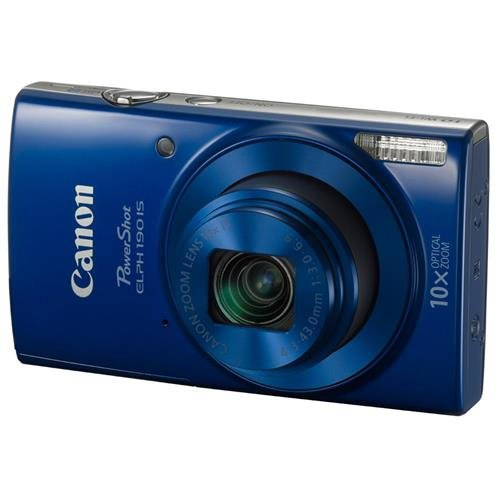 Canon PowerShot ELPH 190 IS (Blue) with 10x Optical Zoom and Built-In Wi-Fi