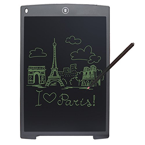12-inch LCD Writing Tablet Digital Graphic Drawing Pads for Business Kids Learning Tablet (Black)