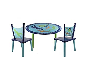 Dinosaurs Painted Wood Kids table and chair set  sc 1 st  Amazon.com & Amazon.com: Dinosaurs Painted Wood Kids table and chair set: Home ...
