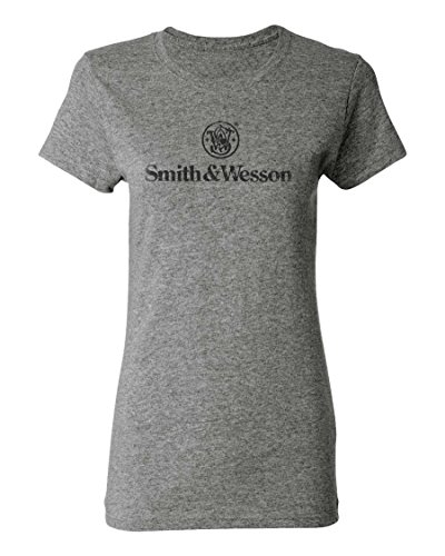 Smith & Wesson Ladies Distressed Logo Tee - Officially Licensed