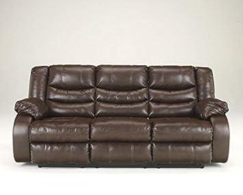Ashley Furniture Linebacker Reclining Sofa in Espresso