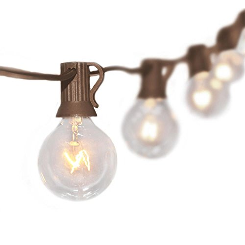 Outdoor String Lights Brown Cord