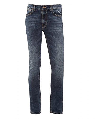 Nudie Jeans Lean Dean Deep Dark Indigo Herrenjeans, Tapered Jeans, Slim Fit Jeans 12oz