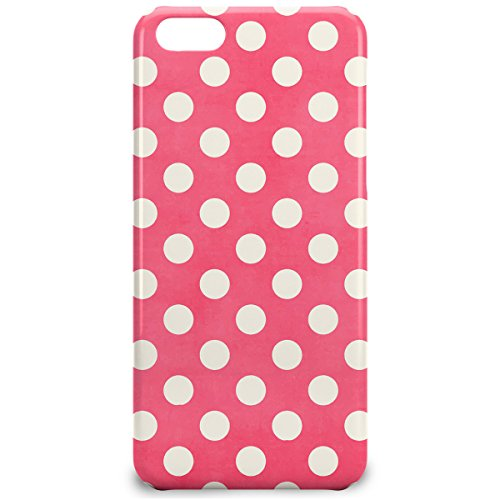 Phone Case For Apple iPhone 5C - Polka Dots on Hot Pink Glossy Premium